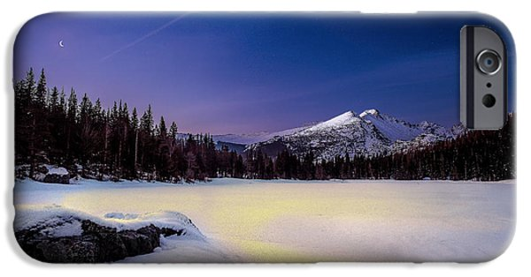 Snowy Night iPhone Cases - Tranquility iPhone Case by Steven Reed