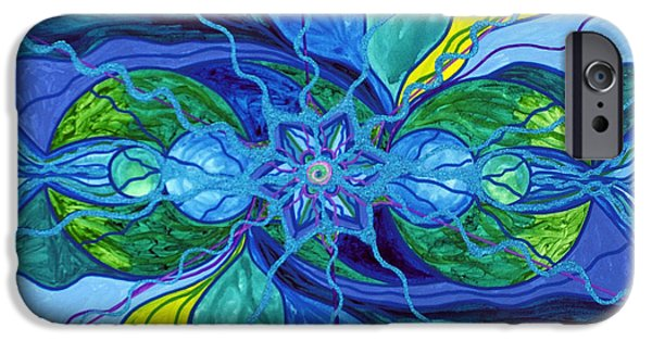Mandalas iPhone Cases - Tranquility iPhone Case by Teal Eye  Print Store