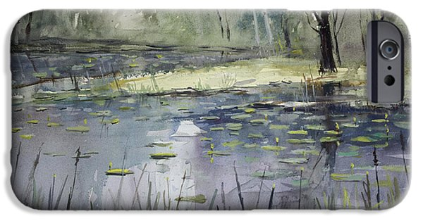 Impressionistic Landscape Paintings iPhone Cases - Tranquillity iPhone Case by Ryan Radke