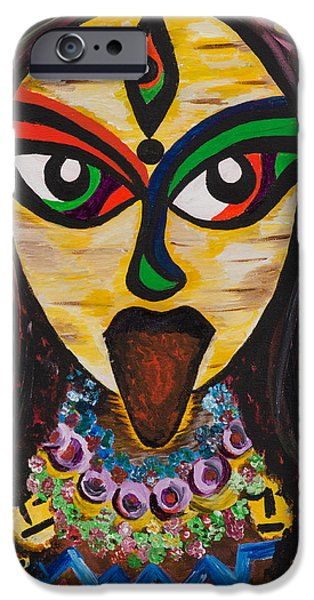 Hindu Goddess iPhone Cases - Transcendence iPhone Case by Anannya Chowdhury
