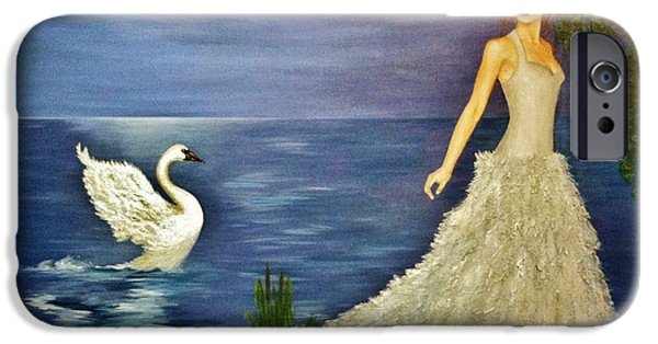Swans... iPhone Cases - Transformation iPhone Case by Marina Hanson