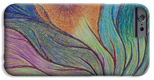 Spiritual Pastels iPhone Cases - Transformational Opening iPhone Case by Jamie Rogers