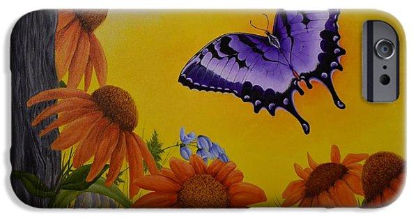 Metamorphosis Paintings iPhone Cases - Transformed iPhone Case by Kathleen Keller