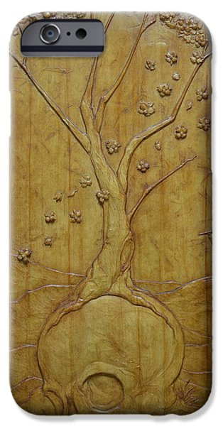 Relief Sculpture Reliefs iPhone Cases - Transitions 1 - Winter / Spring iPhone Case by Jeremiah Welsh