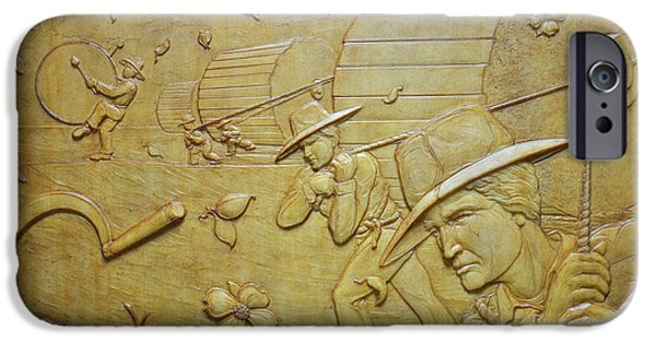 Bas Relief Reliefs iPhone Cases - Transitions 2 - Spring / Summer iPhone Case by Jeremiah Welsh