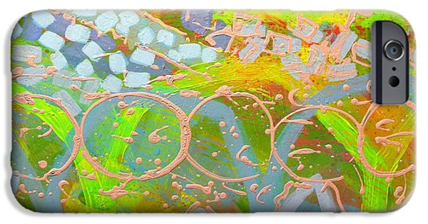 Abstract Expressionism iPhone Cases - Translucent Abstract iPhone Case by John  Nolan