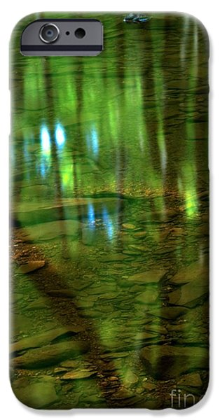 Translucent Forest Reflections iPhone Case by Adam Jewell