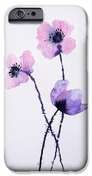 Lightweight iPhone Cases - Translucent Poppies iPhone Case by Zaira Dzhaubaeva