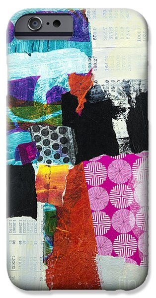 Abstract Expressionist Mixed Media iPhone Cases - Transmission iPhone Case by Elena Nosyreva