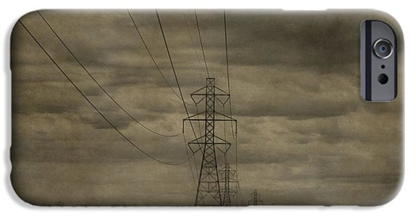 Electrical iPhone Cases - Transmission Towers iPhone Case by Dan Sproul