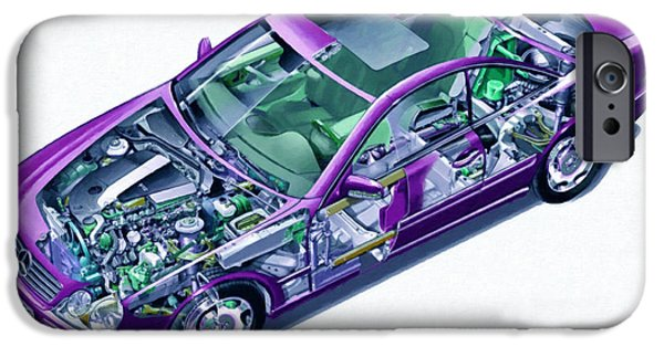 Disc iPhone Cases - Transparent car concept made in 3D graphics 8 iPhone Case by Lanjee Chee