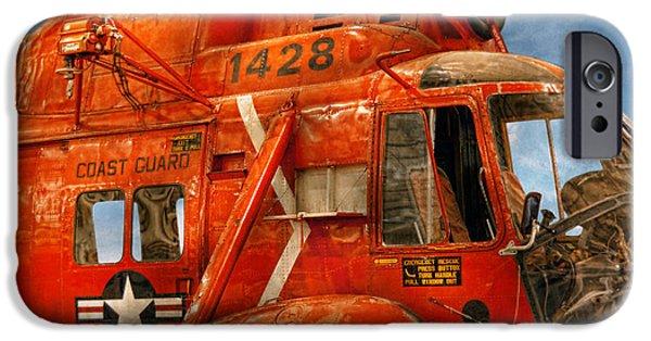 Coastguard iPhone Cases - Transportation - Helicopter - Coast guard helicopter iPhone Case by Mike Savad