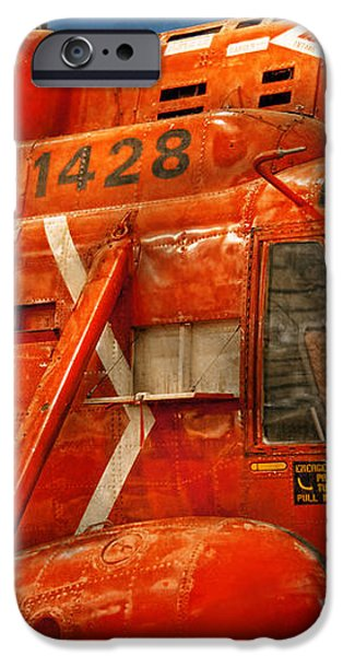 Transportation - Helicopter - Coast guard helicopter iPhone Case by Mike Savad