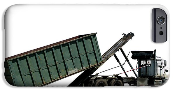 Dump iPhone Cases - Trash Truck iPhone Case by Olivier Le Queinec