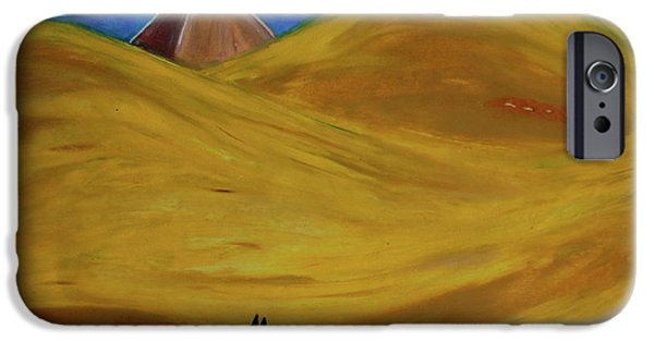 Jrr Pastels iPhone Cases - Travelers Desert iPhone Case by First Star Art