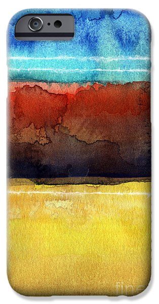 Contemporary Abstract iPhone Cases - Traveling North iPhone Case by Linda Woods