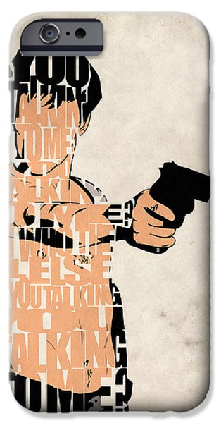 Robert De Niro Digital iPhone Cases - Travis Bickle - Robert De Niro iPhone Case by Ayse Deniz