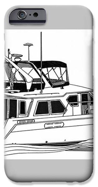 Trawler Yacht iPhone Case by Jack Pumphrey