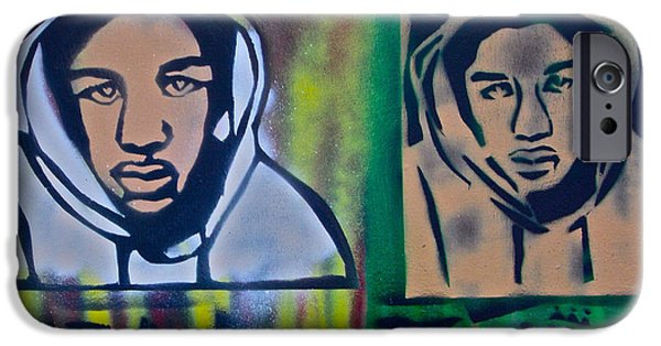 Conservative Paintings iPhone Cases - Trayvon Martin iPhone Case by Tony B Conscious