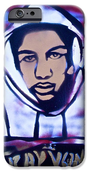 Conservative Paintings iPhone Cases - Trayvons America iPhone Case by Tony B Conscious