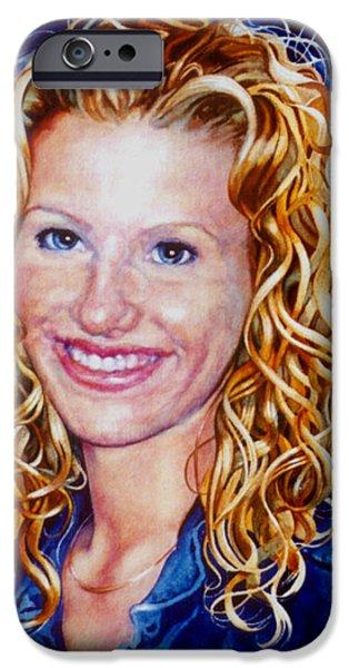 Painter Photo Paintings iPhone Cases - Treasured Daughter iPhone Case by Hanne Lore Koehler