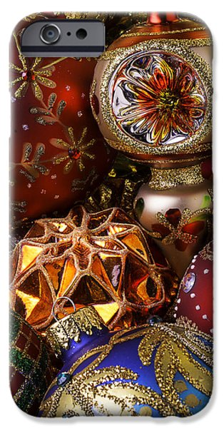 Christmas iPhone Cases - Treasured Ornaments iPhone Case by Garry Gay