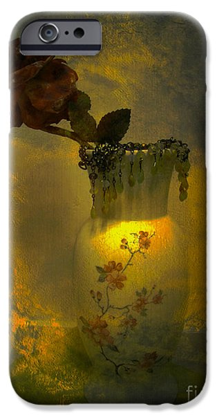 Floral Digital Art Digital Art iPhone Cases - Treasures in a Vase iPhone Case by Beverly Guilliams