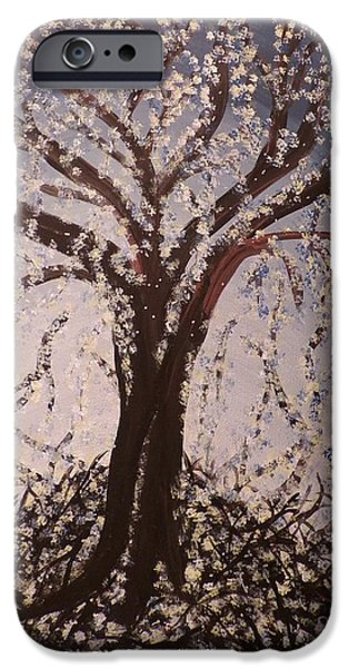 Business Paintings iPhone Cases - Tree # 3 iPhone Case by Pamela Holloman