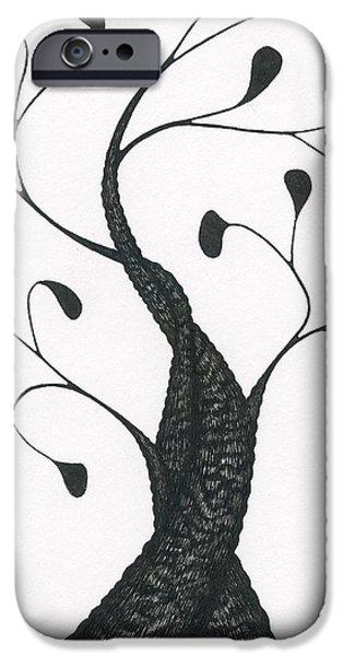 Pen And Ink iPhone Cases - Woven iPhone Case by Chris Bishop