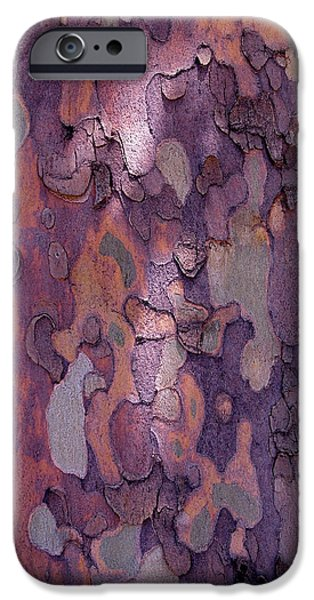 Natural iPhone Cases - Tree Abstract iPhone Case by Rona Black