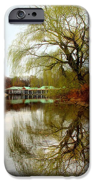 Orsillo Digital iPhone Cases - Tree By The River  iPhone Case by Mark Ashkenazi