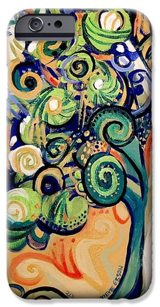 Tree Art Print iPhone Cases - Tree Candy 2 iPhone Case by Genevieve Esson