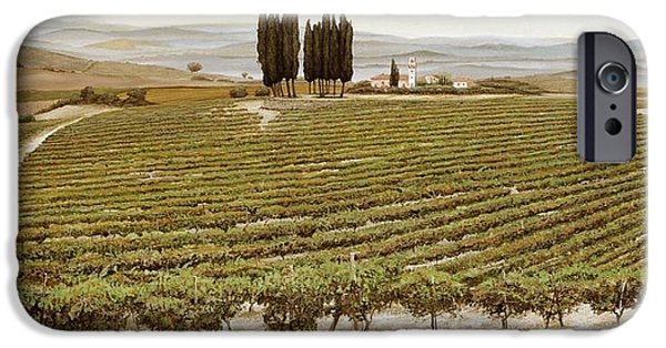 Tuscan Landscapes iPhone Cases - Tree Circle, Tuscany Oil On Canvas iPhone Case by Trevor Neal