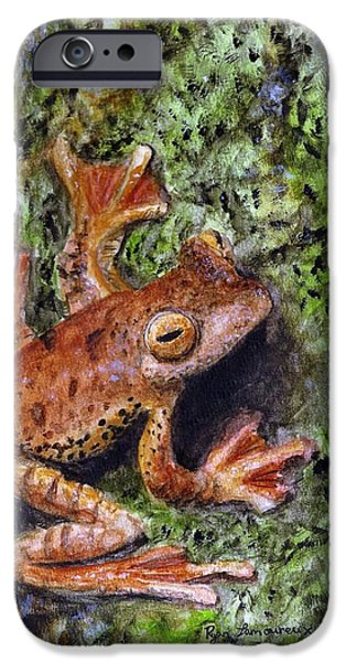 Spring Peepers Paintings iPhone Cases - Tree Clinger iPhone Case by Ryan Lamoureux