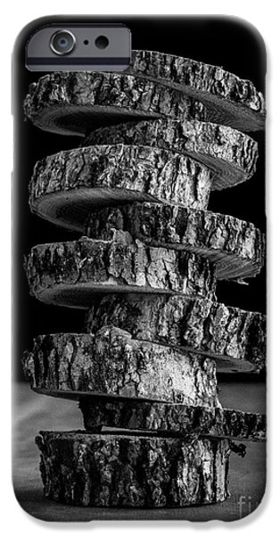 Still iPhone Cases - Tree Deconstructed iPhone Case by Edward Fielding