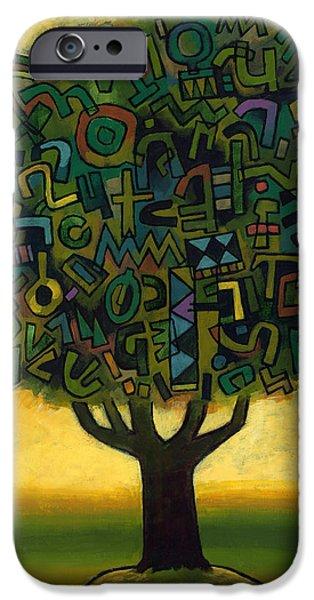 Surrealistic Paintings iPhone Cases - Surrealistic Landscape iPhone Case by Douglas Simonson
