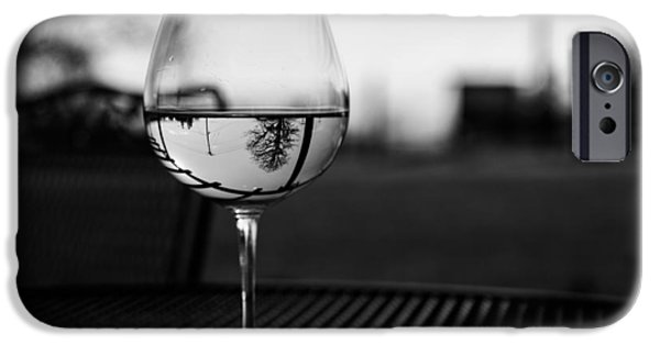 Winetasting iPhone Cases - Tree In A Glass iPhone Case by  Kelly Hayner