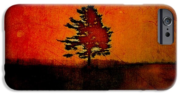 Orange Digital iPhone Cases - Tree Journey - sp22at02 iPhone Case by Variance Collections