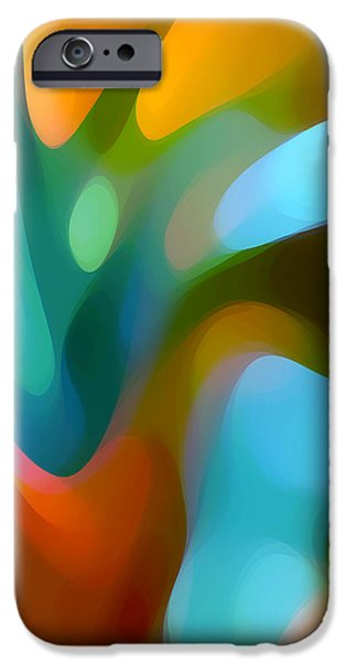 Abstract Digital iPhone Cases - Tree Light 3 iPhone Case by Amy Vangsgard
