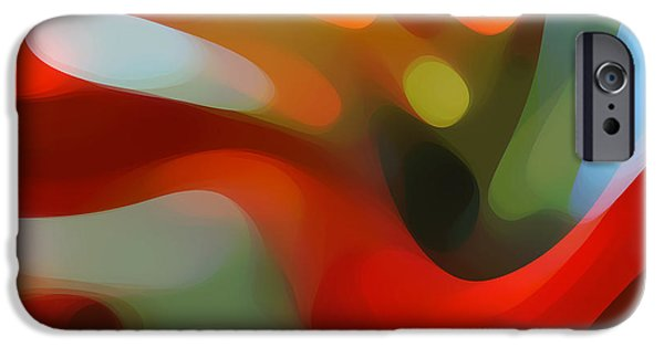 Retro Abstract iPhone Cases - Tree Light 4 iPhone Case by Amy Vangsgard