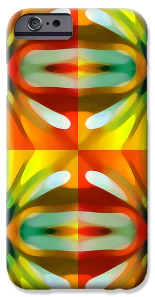 Tree Light Square Pattern iPhone Case by Amy Vangsgard