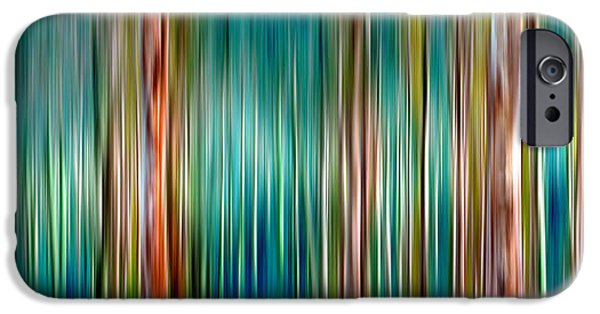 Nature Abstract iPhone Cases - Tree Line iPhone Case by Az Jackson