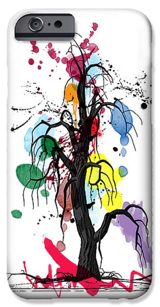 Orsillo iPhone Cases - Tree iPhone Case by Mark Ashkenazi