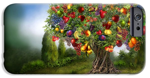 Tree Art Print Mixed Media iPhone Cases - Tree Of Abundance iPhone Case by Carol Cavalaris