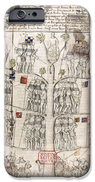 Genealogy iPhone Cases - Tree Of Fortune iPhone Case by British Library