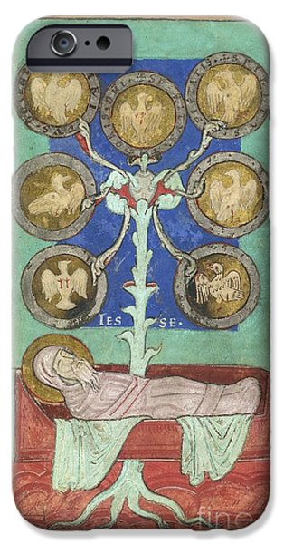 Genealogy iPhone Cases - Tree Of Jesse, 12th Century iPhone Case by British Library