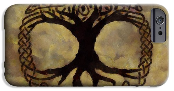Connection Paintings iPhone Cases - Tree Of Life iPhone Case by Dan Sproul
