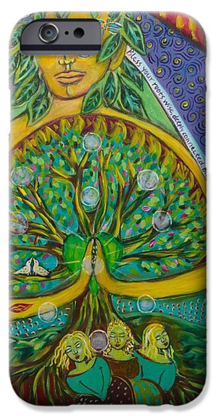 Pear Tree Paintings iPhone Cases - Tree of Life iPhone Case by Havi Mandell