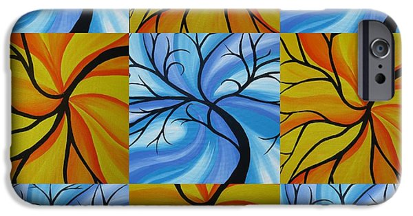 Living With Joy iPhone Cases - Tree of Life Kaledoscope iPhone Case by Cathy Jacobs