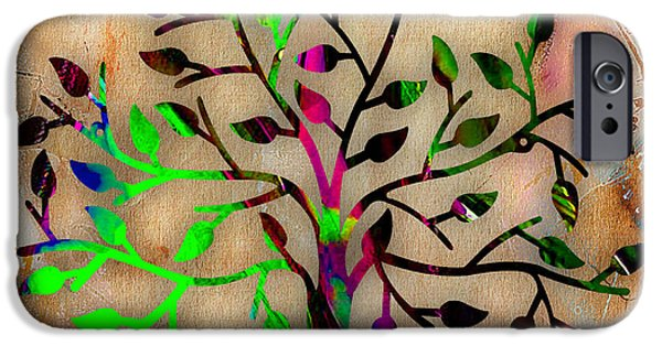 Branches iPhone Cases - Tree Of Life iPhone Case by Marvin Blaine